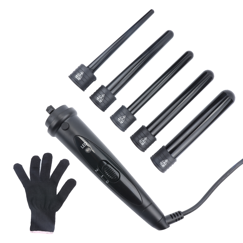 Tube Curling Iron With Wand Ceramic Barrels