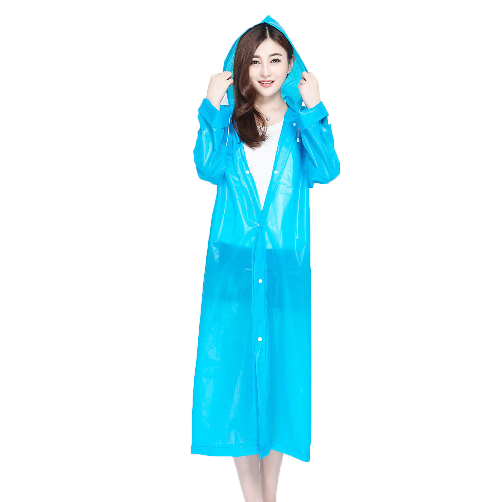 Reusable Waterproof Eva Rain Ponchos Raincoat