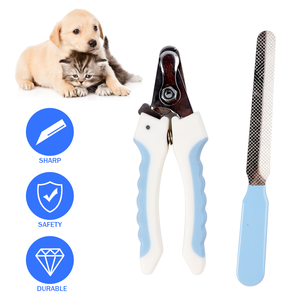Dog Cat Nail Clippers And Free Nail File With Safety Guard