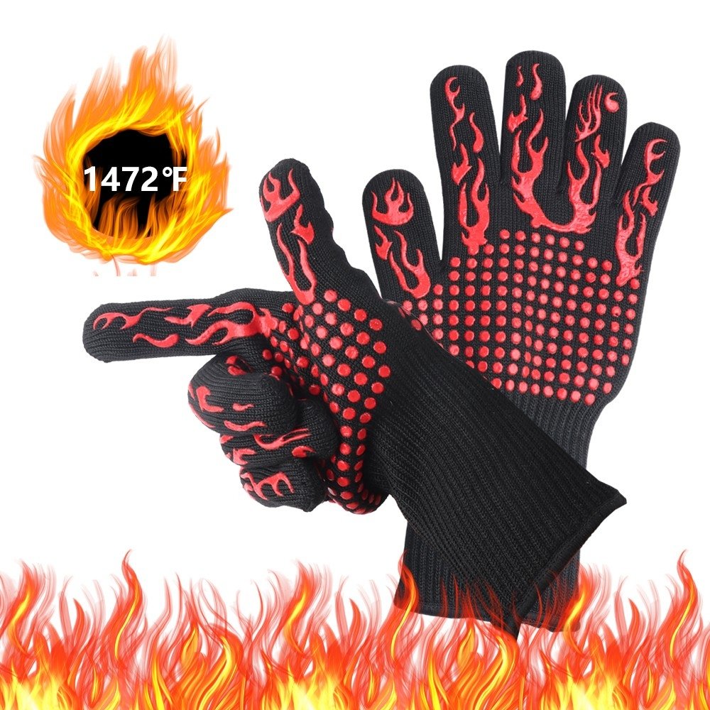 BBQ Gloves Barbecue Gloves 1472°f Extreme Heat Resistant