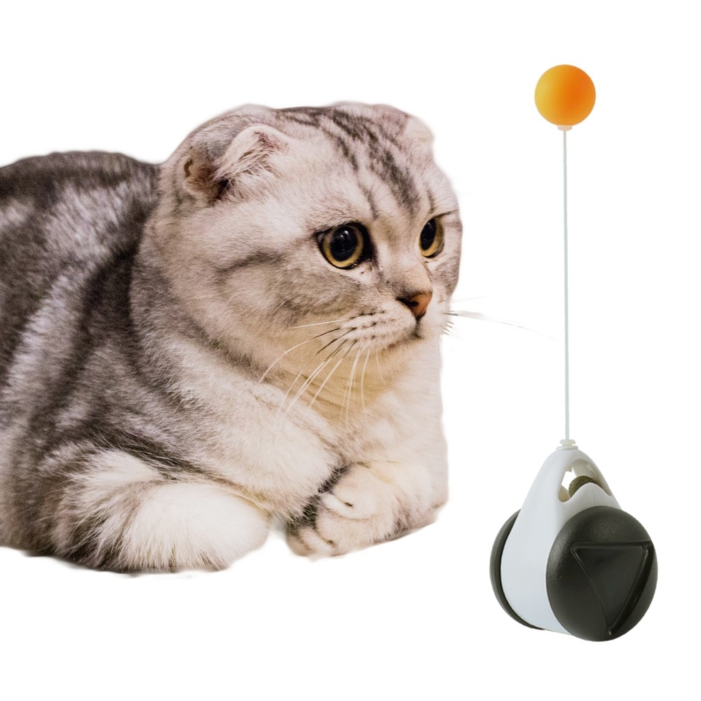 180 Degree Self Rotating Interactive Cat Toys With Catnip