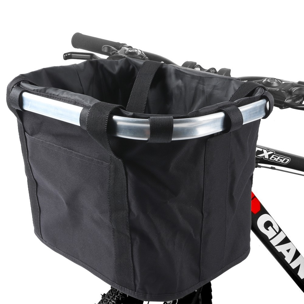 Bicycle Handlebar Basket Small Pet Cat Dog Folding Carrier