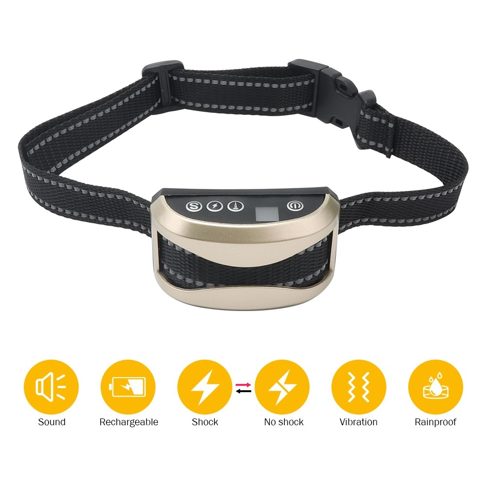 Rechargeable Dog Bark Collar For Small Medium Large Dog