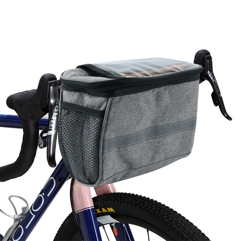 Bike Frame Bag With Two Mesh Pocket And Touchable Screen