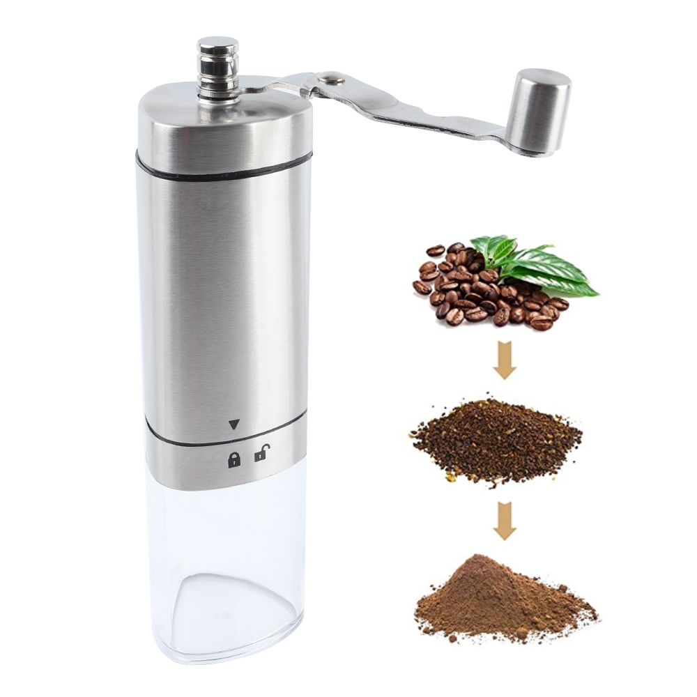 Manual Coffee Grinder With Adjustable Ceramic Conical
