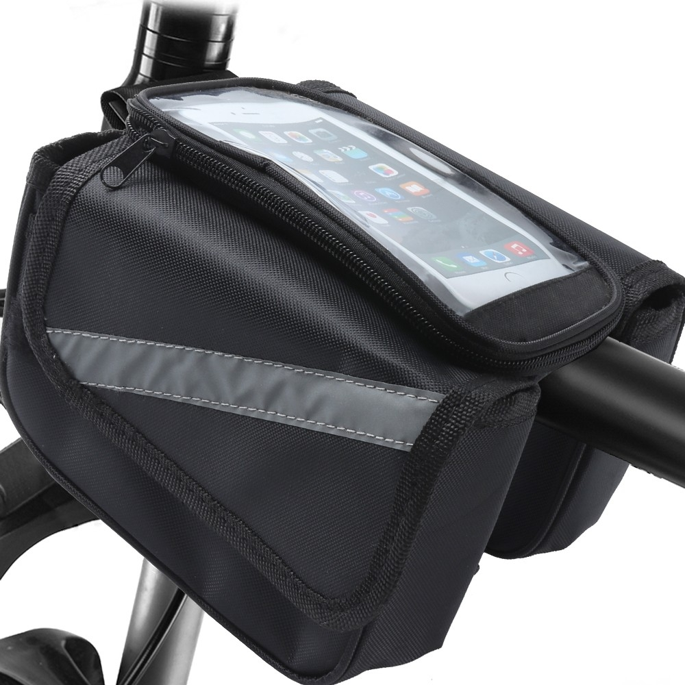 Bike Front Frame Bag With Touch Screen Cell Phone Case