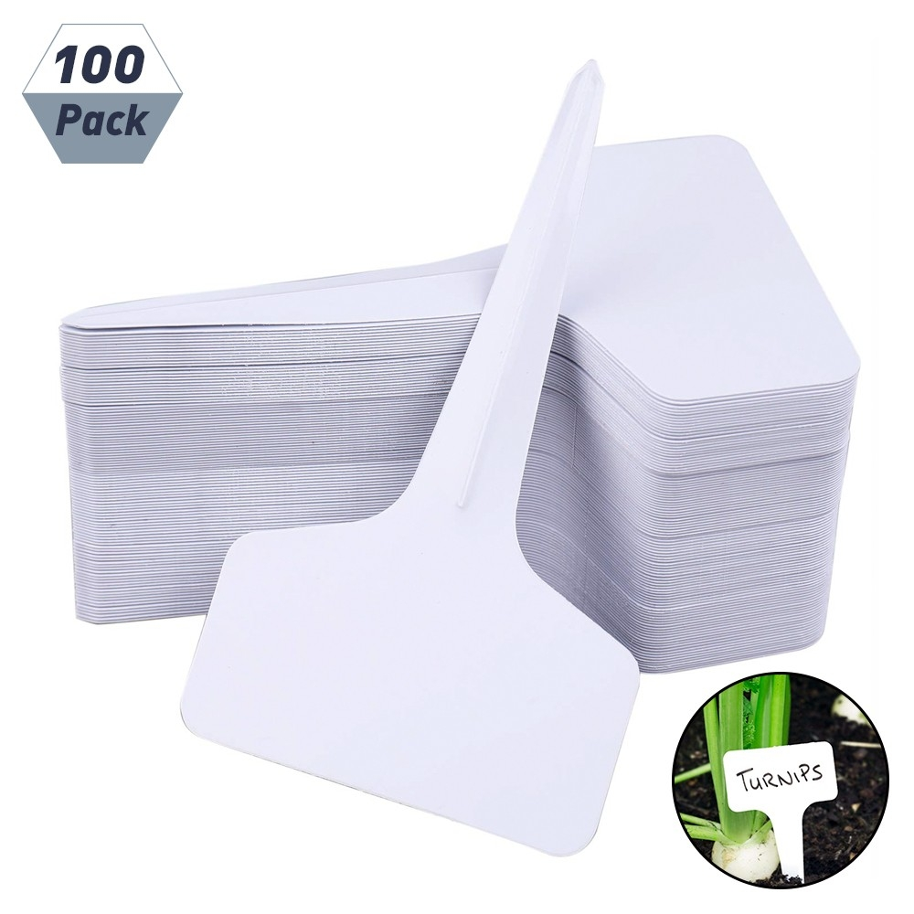 100pcs Plant Lables Waterproof T-type Markers Tags