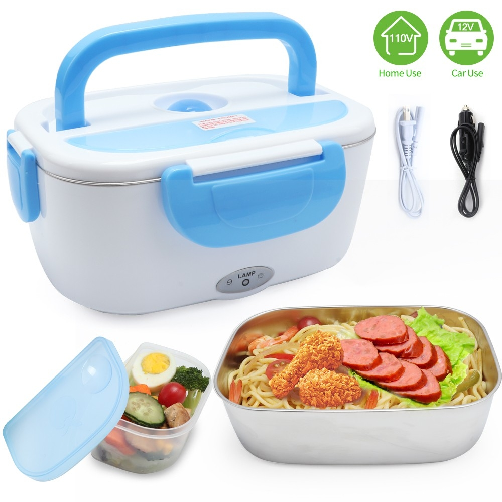 Stainless Steel Dual Purpose Electric Lunch Box