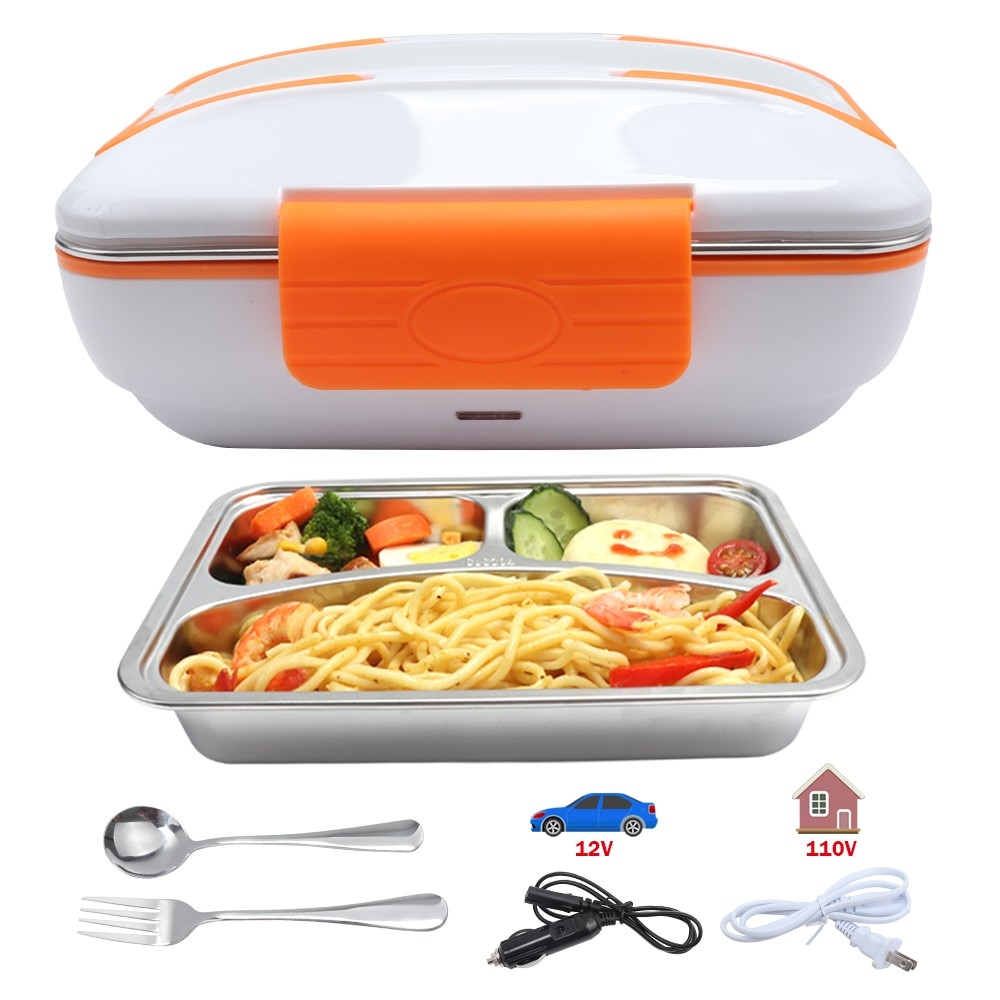 Aircraft Style Stainless Steel Electric Lunch Box