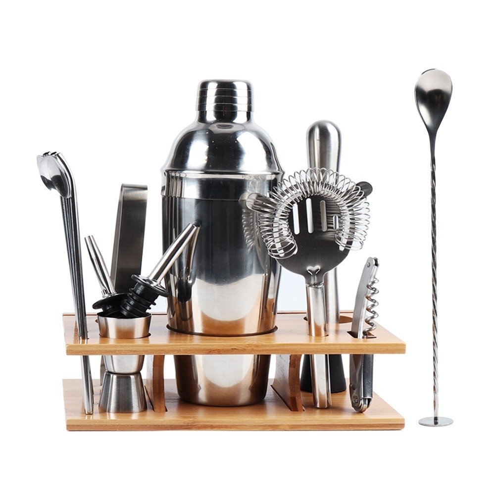 Bartender Kit Stainless Steel Bar Cocktail Mixer 14 Piece Set