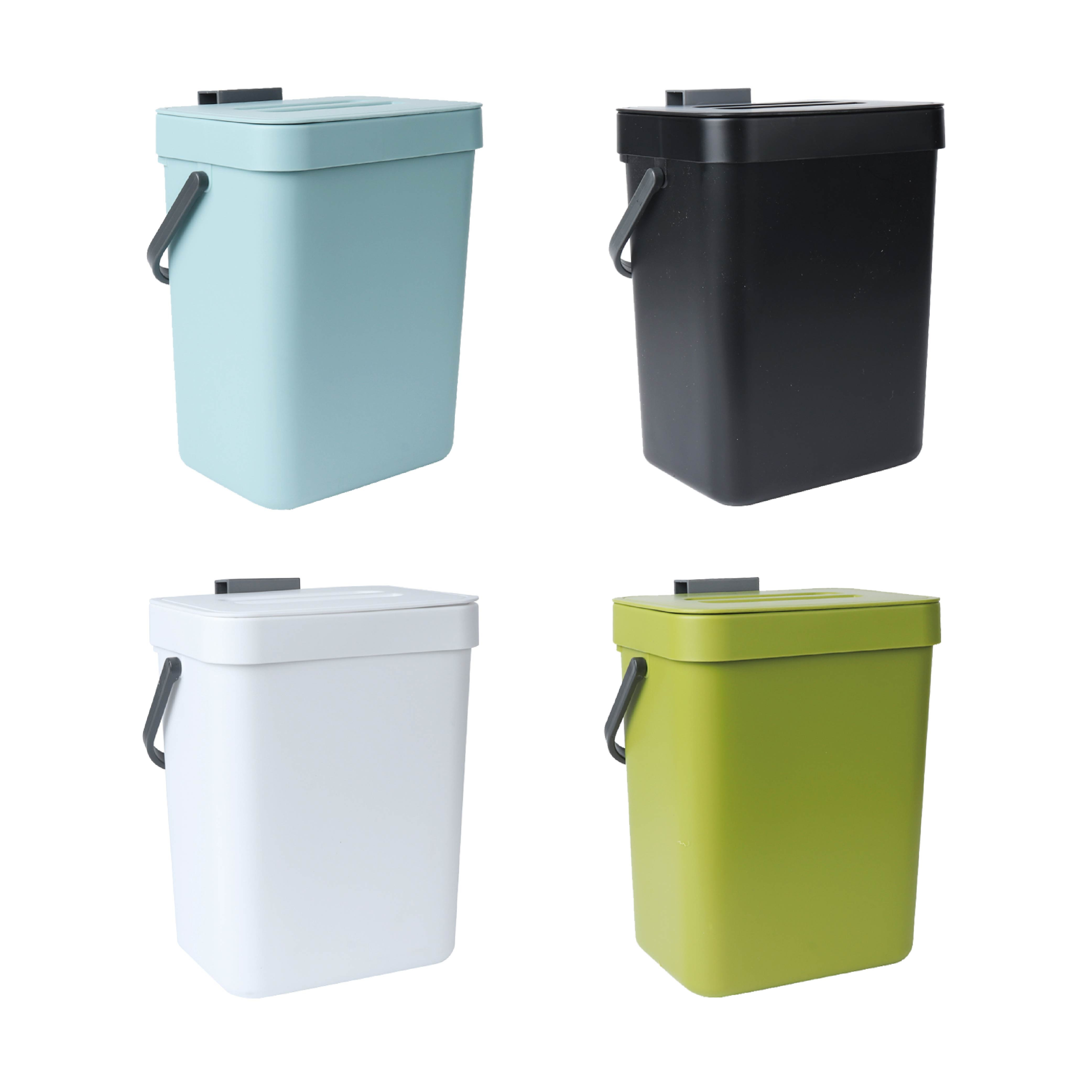 Wall-mounted Kitchen Trash Can With Handle
