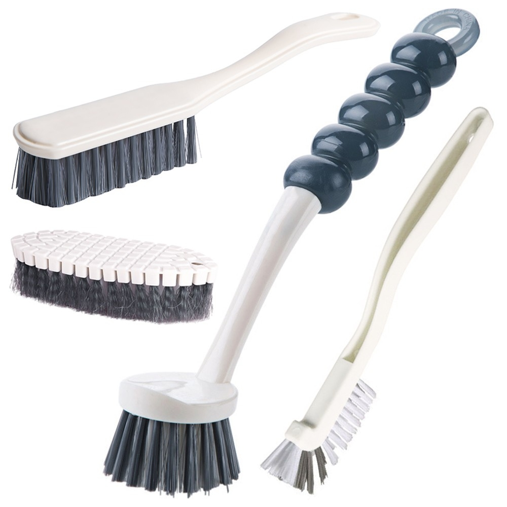 4pcs Multipurpose Cleaning Brush Set For Bathroom And Kitchen
