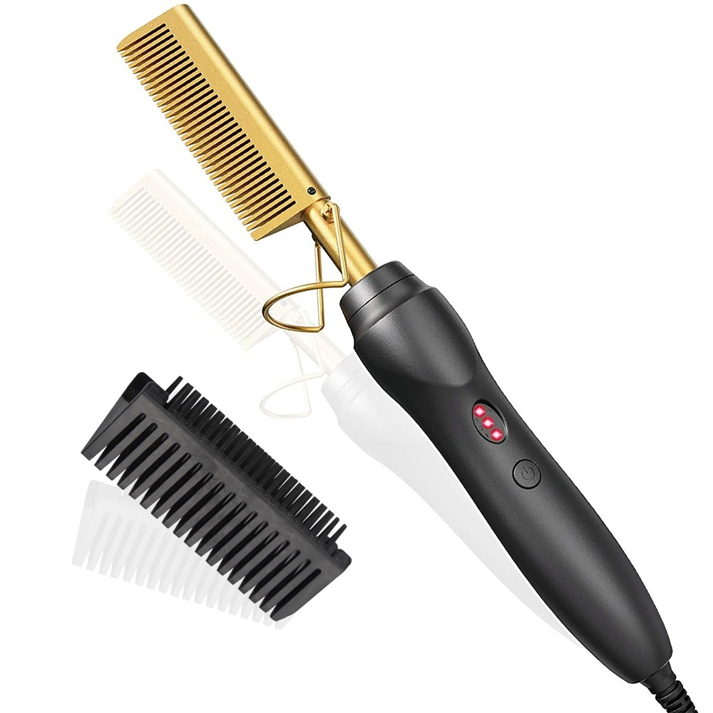 Hot Comb Hair Straightener Electric Heating Comb For Wet And Dry Hair