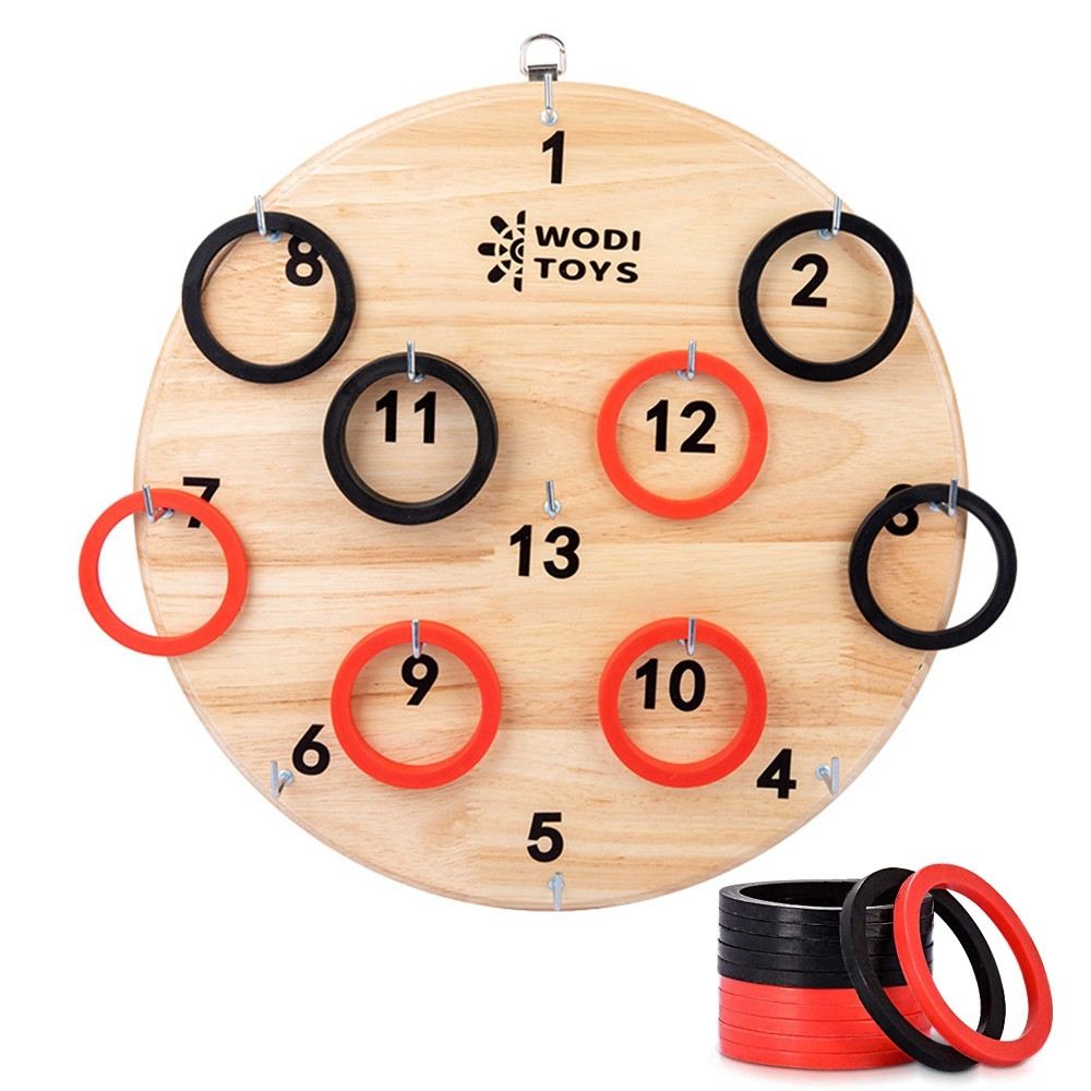 Children's Hand-eye Coordination Ring Toy Wooden Throwing Ring